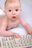 машинистка младенца Стоковая Фотография