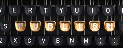 Машинка с ОПУБЛИКОВЫВАЕТ кнопки Стоковая Фотография