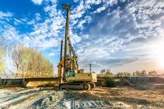 Машинное оборудование для конструкции моста Стоковое Изображение