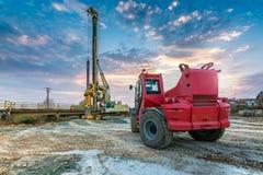 Машинное оборудование для конструкции моста Стоковые Изображения