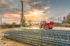 Машинное оборудование для конструкции моста i Стоковое Изображение
