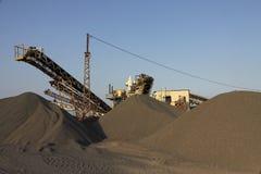 Машинное оборудование индустрии песка стоковое фото rf