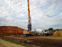 Машинное оборудование на строительной площадке Стоковая Фотография RF