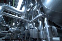 машинное оборудование пускает турбину по трубам пробок пара Стоковые Фотографии RF