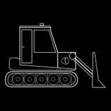 Машинное оборудование дороги конструкции трактора Dozer Стоковые Фотографии RF