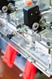 Машины и оборудование в закручивая дизайне интерьера компании продукции Текстильная ткань Стоковое Изображение RF
