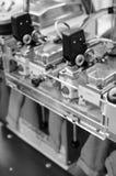 Машины и оборудование в закручивая дизайне интерьера компании продукции Текстильная ткань Стоковые Изображения RF