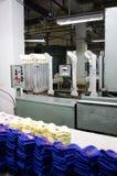 Машины и оборудование в закручивая дизайне интерьера компании продукции Текстильная ткань Стоковое Фото