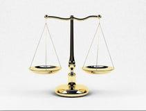 маштабы золота Стоковое Изображение RF