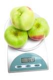 маштабы изолированные яблоками Стоковое Изображение RF