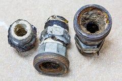 Маштаб в старых трубе и соединении Стоковое Изображение RF