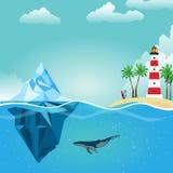 Маяк айсберга лета Стоковое Изображение