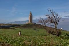 Маяк башни Геркулеса Стоковые Фото