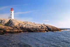 Маяк бухты Пегги, Новая Шотландия, Канада Стоковые Изображения RF