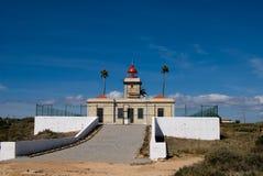 Маяк в Алгарве, Португалии Стоковые Изображения RF