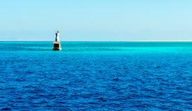 Маяк в Красном Море Стоковая Фотография