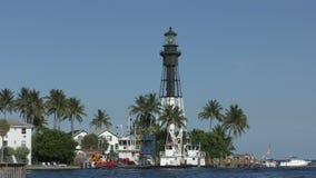 Маяк в пляже Флориде Deerfield сток-видео