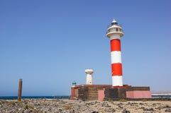 Маяк в Фуэртевентуре Маяк Испании маяк старый Стоковая Фотография RF