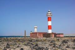 Маяк в Фуэртевентуре Маяк Испании маяк старый Стоковое фото RF