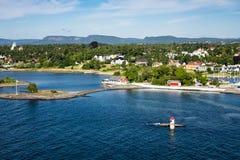 Маяк в Oslofjord Стоковое фото RF