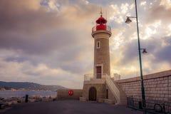 Маяк в St Tropez стоковая фотография rf
