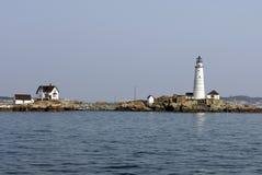 Маяк гавани Бостона на меньшем острове Brewster стоковое изображение