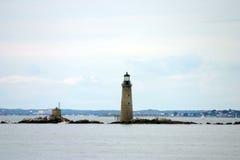Маяк гавани Бостона самый старый маяк в Новой Англии Стоковое фото RF