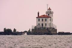 маяк гавани fairport Стоковая Фотография RF