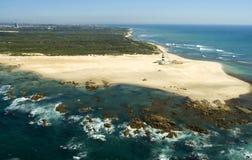 Маяк - гаван Элизабет, Южная Африка Стоковые Фотографии RF