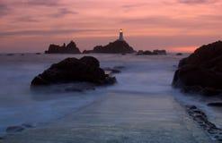 маяк Джерси corbiere Стоковое Изображение