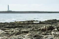 Маяк издалека Стоковая Фотография RF