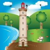 маяк иллюстрации Стоковое фото RF
