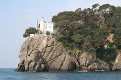 маяк Италия Лигурия Стоковое фото RF