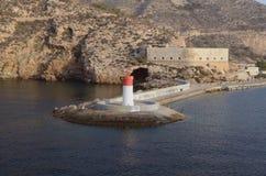 Маяк и форт, Cartagena Испания, Том Wurl Стоковые Изображения RF