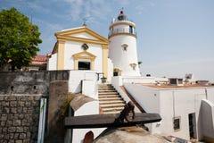 Маяк, крепость и часовня Guia в Макао Стоковые Фотографии RF