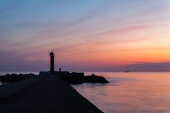 маяк к путю Стоковые Фотографии RF