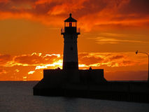 Маяк маяка восхода солнца Стоковое Изображение