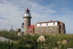 маяк Мейн Стоковые Изображения RF
