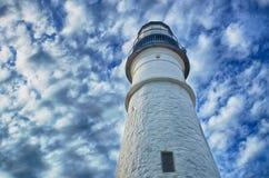 маяк Мейн portland стоковые фотографии rf