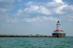 маяк Мичиган озера Стоковое фото RF