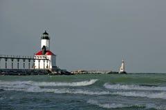 маяк Мичиган США Индианы города стоковые фотографии rf