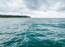 Маяк морем в Gelendzhik Стоковое Изображение