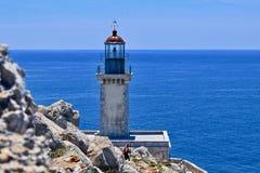 Маяк на накидке Tainaro, Греции Стоковые Фотографии RF