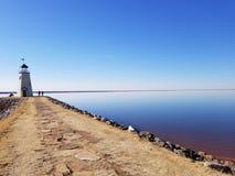 Маяк на озере Hefner, Оклахоме стоковое изображение