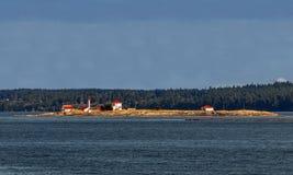 Маяк на острове входа Стоковое Изображение