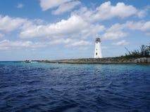 Маяк на острове рая, Багамских островах Стоковая Фотография RF