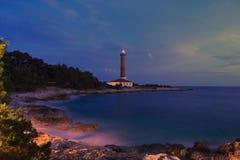 Маяк на острове Dugi Otok, Хорватии Стоковая Фотография