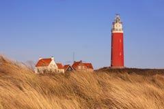 Маяк на острове Texel в Нидерландах Стоковое Фото