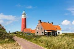 Маяк на острове Texel Стоковое Изображение