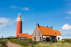 Маяк на острове Texel Стоковая Фотография RF